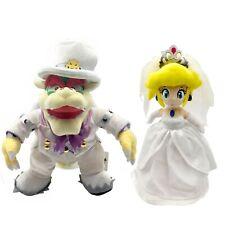 2X Super Mario Odyssey King Bowser Princess Peach Wedding Dress Plush Toy Figure