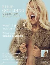 "Ellie Goulding ""Delirium World Tour"" 2016 Oklahoma City Concert Tour Poster"