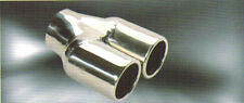 """3"""" inlet Stainless steel dual round outlet Exhaust Tip tailpipe 6.9"""" long"""