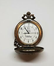 Pocket Watch with Chain Beautiful Modern Antique Look Quatrz