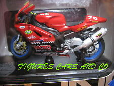 MOTO  1/18  APRILIA RSV 1000 MOTO JOURNAL 2000 ENJOLRAS RACING  MAJORETTE SOLIDO