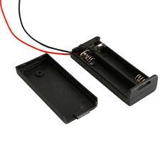 1pcs 2 AAA/3A 3V (3 Volt) Cells Battery Clip Holder Storage Box Case Black DIY