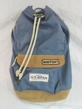 Burton US Open Snowboarding Blue Knapsack Draw String Backpack