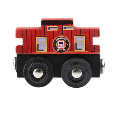 Cartoon Wooden Magnetic Train Cars Railway System Toy Accessories for Kids
