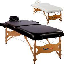 Movit Deluxe lettino da Massaggio tavolo Inkl. Borsa Vollholzgestell Nero