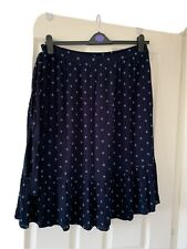 Fat Face Blue Floral Print Midi Skirt Size 18 Lined And Pockets