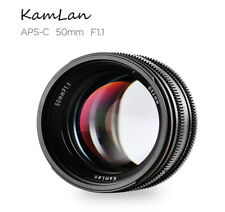 Kamlan 50mm F1.1 APS-C Large Aperture Manual Focus Lens for Sony E-Mount A5011