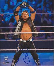 WWE AJ STYLES Signed 8x10 Photo RAW SMACKDOWN