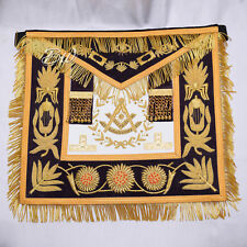 Masonic Regalia Grand Lodge Past Master Apron Purple/Gold Hand Embroidered