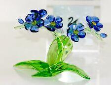 Swarovski Original Figurine Flower Vergiss My Not Large 5374947 New