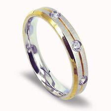 Women Titanium Ring Dome shape Anniversary Wedding Ring Valentine's Day Gift 4mm