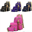 3 x Fashion Women Girls Travel Canvas Rucksack Backpack Tote School Shoulder Bag