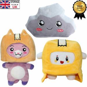 Lankybox BOXY + FOXY + ROCKY Plush Stuffed Toy Kid Soft Game Figure Plushie Doll