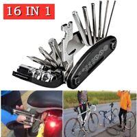 MTB Bicycle 16 in 1 Repair Tool Pocket Bike Multi Function Folding Tool Kit