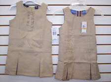 Girls $28-$34 Chaps Or Nautica Khaki or Navy Jumper Uniform Dress Size 4-12/14