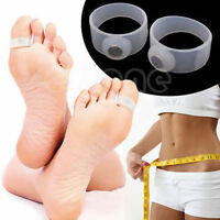 2Pairs Keep Fit Health Slimming Slim Weight Loss Soft Silicone Magnetic Toe Ring