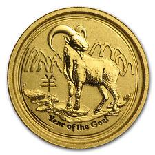 2015 Australia 1/20 oz Gold Lunar Goat BU - SKU #84440
