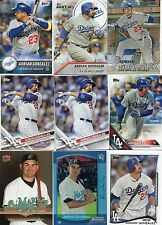 9-adrian gonzalez card lot nice mix 7-dodgers 2-marlins reprint rc
