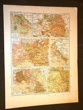 Carta cartina estratta da Atlante del 1890 L'Italia nel 1796, 1799, 1798 e 1806