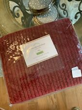 Pottery Barn King Sham Velvet Channel Quilted Ruby Red