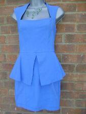 Square Neck Petite Sleeveless Peplum Dresses for Women