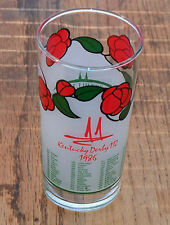 Kentucky Derby Run For the Roses Glass Tumbler Churchill Downs #112 1986