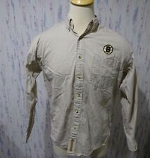 Boston Bruins Hockey Gear For Sports NHL Men's Tan Long Sleeve Button up Size M