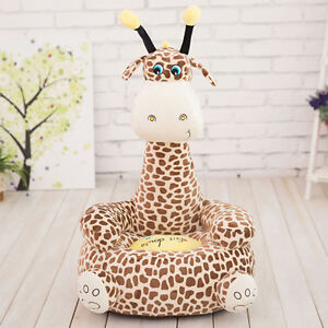 kids sofa Giraffe stuffed animal cartoon bean sofa chair/Child seat kids gift