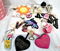 Victorias Secret Flowers BLING MIRROR COCKTAIL LOGO Key Chain Ring BAG CHARM NWT