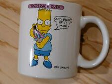Vintage The Simpsons Underachiever Proud of It One of the Bunch 1990 Coffee Mug