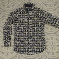Rock Roll N Soul Floral Men's Long Sleeve Button Up Shirt Size Small Pre-owned