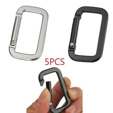 5pc 5cm Carabiner Alloy Climbing Buckle Hook Key Chain Ring Practical Safe Clasp