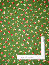 Christmas Fabric - Peppermint Candy Green Benartex #6078 Santa's Here - Yard