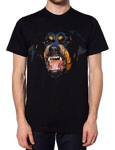 Angry Dog Black T Shirt Rottweiler Funny Designer Top Brand Apparel Men Women