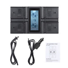 NEW 4-Channel LCD Digital Camera Battery Charger for Sony Nikon Canon Panasonic