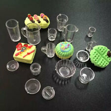 15pcs/Set Dollhouse Mini Drink Cups Goblets Dish Tableware Miniatures Decor KL
