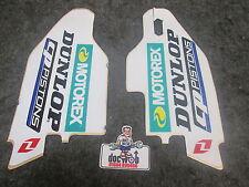 Suzuki RM125/250 RMZ250/450 2007-2016 Dunlop Motorex lower fork graphics RM2819
