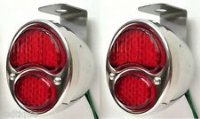 LED RED Stainless Steel Taillights Hanging Undermount Bracket Flat Bed Dump GM1
