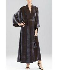 Josie Natori Natalie Iridescent Velvet Robe Silk Blend Shawl Collar $1200 XS New