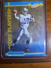 New listing 2001 Pacific Prism Atomic SP INSERT Core Players #9 Peyton Manning Nrmnt