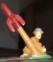 Barclay Manoil Lead Toy Soldier Mortar Rocket