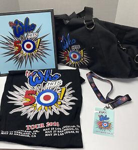 The Who Hits 50! 2015 Tour - VIP Duffel Bag T-shirt Folder - VIP badge - Amazing