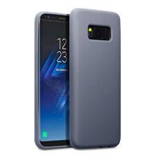 Fino Goma Parachoques Funda de GEL PARA EL NUEVO Samsung Galaxy S8 - GRIS MATE