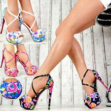NEU Designer Damenschuhe Pumps Plateau High Heels Club-Party GOGO Schuhe SeXy