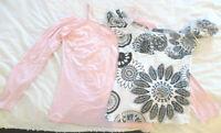 Set: Träger Carmenshirt rosa von Apart & Kurzarm Carmenbluse von figa, Gr. 38