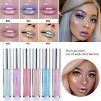 HANDAIYAN Holographic Metallic Diamond Lip Gloss Glaze Sparkling Lipstick Makeup
