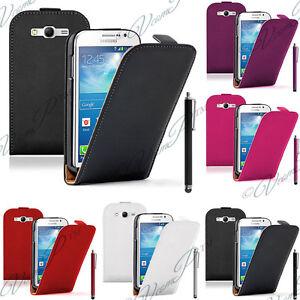 Etui Coque Housse PU Vrai Rabat Cuir Samsung Galaxy Grand Plus/ Neo/ Lite I9060