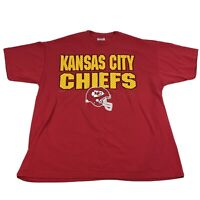 Vintage 1996 Kansas City Chiefs NFL T Shirt Red Men's XL SS Graphic Team