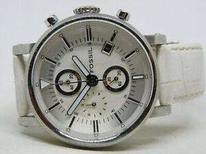 Fossil F2 ES-1794 Genuine Leather Quartz Analog Ladies Chronograph Watch