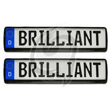 Buick 2x Brilliant Black Look Kennzeichenhalter Kennzeichenrahmen Kennzeichen